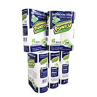 Combo 5 lốc giấy vệ sinh 3 lớp PONYO (6 cuộn/ lốc)