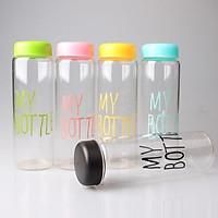 Combo 5 Bình Thủy Tinh Đựng Nước My Bottle 500ml Đủ 5 Màu