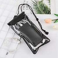Túi đựng điện thoại chống nước D019 loại lớn bao chống nước điện thoại trong suốt có dây đeo và jack cắm dây tai nghe