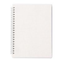 Sổ vở lò xo giấy kẻ caro basic bìa nhựa trắng 84 trang A5 15x21cm