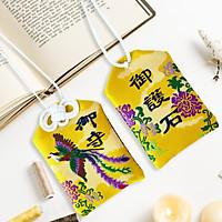 Túi gấm Omamori hỏa phượng trùng sinh có kèm túi chống nước Túi Phước May Mắn dây treo trang trí