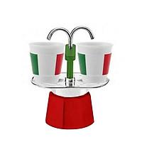 ẤM PHA CÀ PHÊ BIALETTI MINI EXPRESS ITALIA 2 CERAMIC CUPS
