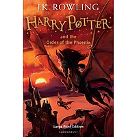 Harry Potter Part 5: Harry Potter And The Order Of The Phoenix (Hardback) Large Print Edition (Harry Potter và Hội Phượng Hoàng) (English Book)