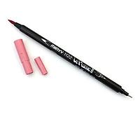 Bút lông hai đầu màu nước Marvy LePlume II 1122 - Brush/ Extra fine tip - Dusty Pink (66)
