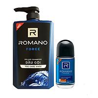Combo Dầu gội Romano Force 650ml+Lăn khử mùi Romano Force 50ml