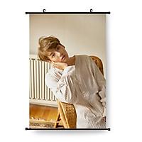 Tranh vải cuộn Jungkook poster vải treo khổ lớn idol Jungkook 40x58cm