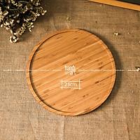 Khay gỗ tre hình tròn - Khay tre đựng thức ăn - Khay tre tự nhiên- bamboo wooden tray