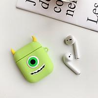 Bộ phụ kiện gồm 1 vỏ silicon bảo vệ hộp sạc và 1 dây nối chống rớt tai nghe dành cho Apple Airpods hình thú cực độc, dễ thương
