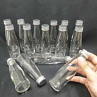 Combo 8 chai thủy tinh 100ml mẫu Trụ Cao nắp thiếc vặn màu bạc – lọ nhỏ đựng mật ong, dầu dừa, nước mắm, thức uống, sữa, các loại thực phẩm