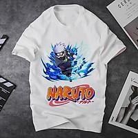 Áo thun Nam Nữ Không cổ NARUTO KAKASHI DÙNG CHIDORI MSOP-28 mẫu mới cực đẹp, có size bé cho trẻ em / áo thun Anime Manga Unisex Nam Nữ, áo phông thiết kế cổ tròn basic cộc tay thoáng mát