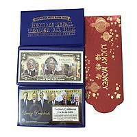 Bao lì xì Tờ 2 Đô La in hình 6 tổng thống Mỹ