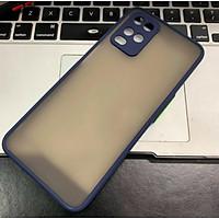 Ốp lưng trong nhám viền màu chống sốc cho Realme 8/ 8 Pro - Hàng Nhập Khẩu