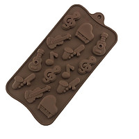 14 Pcs / Set Molds Of Silicone To Make Cakes Mousse Jelly Candy Chocolate With Musical Instrument Shape
