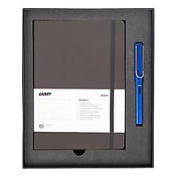 Gift Set Lamy Notebook A5 Softcover Umbra + Lamy Al-Star Blue - GSNAl0016