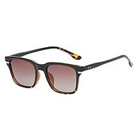 Square Frame Flat Top Sunglasses Retro Style Design Black Frame Black