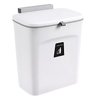 Thùng đựng rác gài cánh tủ bếp có nắp đậy - Thùng rác treo gắn tủ bếp R02