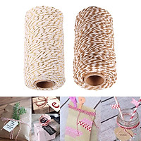 2x 328 Feet (100m)Colored Cotton Twine String