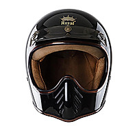 Mũ Bảo Hiểm Fullface H1 Royal - Đen bóng