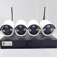 Bộ Camera NVR KIT wifi Kiwivision NVR4130 , 4 mắt 1,3M + Tặng HDD 500G, hình ảnh 960P   -Hàng chính hãng