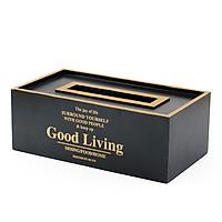 Hộp đựng giấy gỗ Good Living