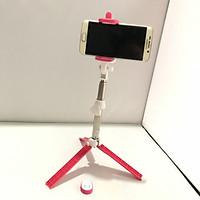 Gậy Tripod Selfie Stick Mini Gậy Chụp Hình Selfie Nhám Có 3 Chân Tặng Kèm Nút Điều Khiển Từ Xa Bluetooth