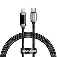 Cáp sạc nhanh Baseus C to C 100W màn led, Cáp sạc nhanh 100W Baseus Display Fast Charging Data Cable Type C to C 100W (20V/5A) - Hàng chính hãng