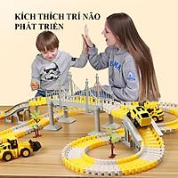 Bộ đồ chơi lắp ghép đường ray Ô tô và Tàu hoả gồm 334 chi tiết hỗ trợ phát triển trí tuệ cho bé.