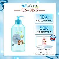Gel tắm Fresh Organic Chăm sóc da nhạy cảm chiết xuất Bơ hạt mỡ 500g