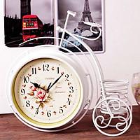 Đồng hồ để bàn 2 mặt xe đạp bánh cao nghệ thuật 0907