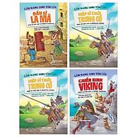 Combo Cẩm Nang Sinh Tồn Của: Chiến Binh Viking + Đấu Sĩ La Mã + Hiệp Sĩ Thời Trung Cổ + Thợ Săn Thời Đồ Đá (Bộ 4 Cuốn)