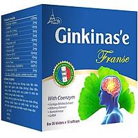 Combo 2 GINKINAS'EG FRANSE – Tuần hoàn máu não, giảm nguy cơ tai biến mạch máu não
