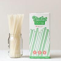 Ống hút gạo phi 8 - Hộp 80 ống màu trắng