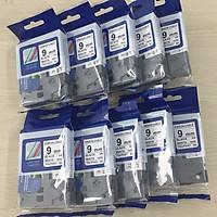 [ Combo 10 cuộn] Nhãn TZ2-FX221 siêu dẻo - Chữ đen trên nền trắng 9mm - Hàng nhập khẩu