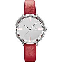 Đồng hồ nữ chính hãng Shengke Korea K8048L-Đỏ