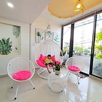 Bộ bàn ghế sân vườn kèm xích đu đôi (nệm nhung hồng)