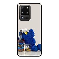 Ốp lưng điện thoại Samsung Galaxy S20 Ultra viền dẻo TPU BST KAWS Sesame Street Mẫu 9