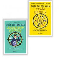 Combo 2 Cuốn: Thiên Tài Lãnh Đạo Leadership Genius + Thiên Tài Đội Nhóm Team Genius - Tặng kèm bookmark AHA