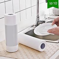 Giấy lau đa năng - giấy lau bếp  không thấm nước, lau nhà, khăn lau bát đĩa không dính dầu có thể giặt được