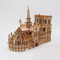 Đồ chơi lắp ráp gỗ 3D Mô hình Nhà Thờ Đức Bà Laser HG-F013