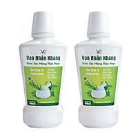 Combo 2 chai Nước Súc Miệng Thảo Dược - Vạn Nhân Khang 300ml hỗ trợ điều trị Hôi Miệng, Nhiệt Miệng, Nhiệt lưỡi, Viêm Nha Chu, Chảy máu Chân Răng