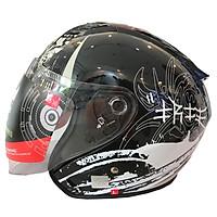 Mũ Bảo Hiểm 3/4 Protec Racing Có Kính Chuyên Phượt Thủ, Thời Trang, Thoáng Khí, An Toàn, Họa Tiết Samurai - Hàng Chính Hãng