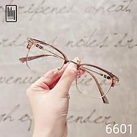 Gọng kính kim loại nam nữ Lilyeyewear mắt vuông thanh mảnh thiết kế hiện đại thời trang 6601