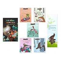 Combo sách hay cho bé mẫu giáo: Khu Rừng Bánh Kem + Bộ Chuyện Ở Rừng Vi Vu (5 cuốn) - Tặng kèm bookmark danh ngôn hình voi