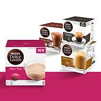 Combo 3 Hộp Espresso, Cappuccino, Aulait Nescafe Dolce Gusto (48 viên) - Tặng 1 Hộp Milk Tea Nescafe Dolce Gusto (16 Viên)