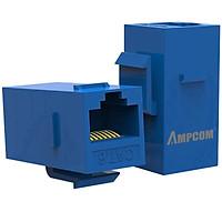 Đầu nối dây mạng CAT6 RJ45 AMPCOM/ Nhân Wallplate AMPCOM chuẩn CAT6 UTP RJ45 (Blue) AMC60802 - Hàng Chính Hãng