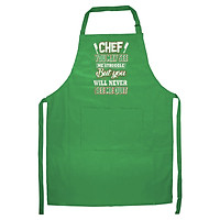 Tạp Dề Làm Bếp In Hình Chef You May See Me Struggle But You Will Never See Me Quit