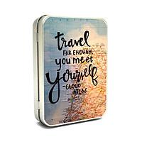 Hộp thiếc Vintage Box - Travel far enough