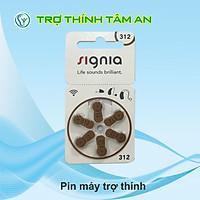 Pin 312 - Pin trợ thính Signia, hàng chính hãng, dùng cho máy trợ thính RIC, máy trong tai ITC-ITE, Pure 312