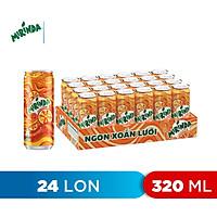 Thùng 24 Lon Nước Ngọt Có Gaz Mirinda Cam (320ml/lon)
