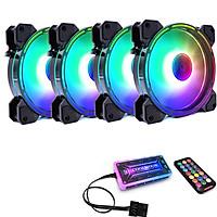 [4 Quạt + Khiển] Quạt Coolmoon RGB V9 - Hàng nhập khẩu